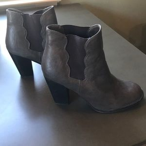 Betsey Johnson grey ankle booties